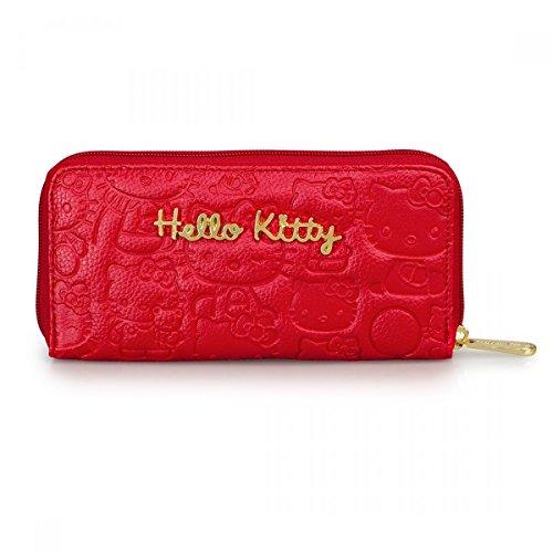 Wallet–Hello Kitty–rot geprägt Face Anime Geschenke Toys Lizenzprodukt sanwa0761