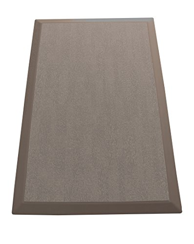 SmartCells Anti-Fatigue Comfort Mat for Home and Office, Light Brown, with Replaceable Tan-Pattern Carpet-Top Insert, 24-Inch by (Carpet Insert)