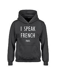 Indica Plateau I Speak French Fries Kids Hoodie