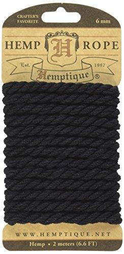 Hemptique-HRC6MBLK-Hemp-Rope-Black-656-Feet
