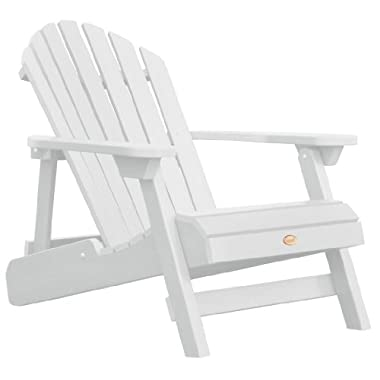 Highwood Folding and Reclining Adult Adirondack Chair, White