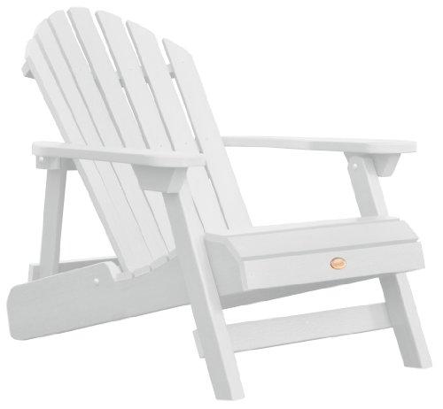 Highwood AD-CHL1-WHE Folding und Zurücklehnen Erwachsene Adirondack Chair, weiß