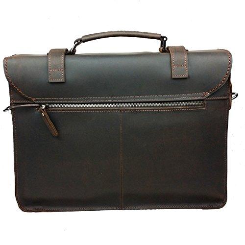 maletín lqt funda viaje Chocolate bolsa maletín bandolera nbsp;Bolso piel laptop para nbsp;– retro de de rfrYq