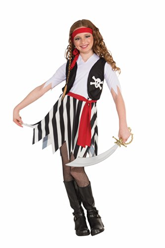 Forum Novelties Little Lady Buccaneer Costume, Child Large (Pirate Halloween Costume Outfit)