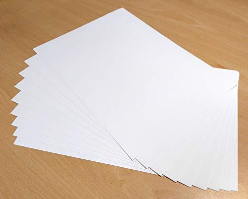 10 hojas A4 impermeables de vinilo de gran calidad color blanco ...