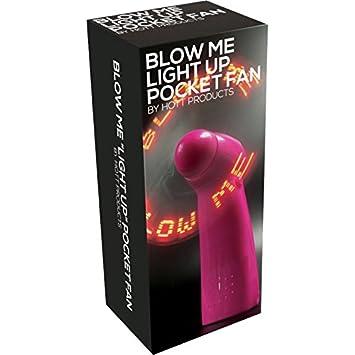 Blow Me Light Up Novelty Pocket Fan Pink