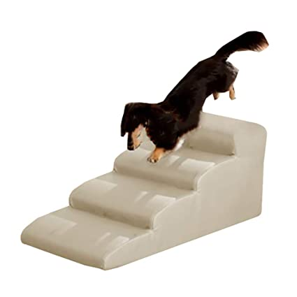 Phenomenal Amazon Com Large Pet Dog Stairs White 4 Step Stool Sponge Dailytribune Chair Design For Home Dailytribuneorg