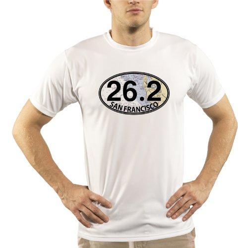 Split Time Men's San Francisco 26.2 UPF Short Sleeve Running T-Shirt XXX-Large - Shirt Marathon San Francisco