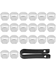 SANON 20Pcs 17mm Car Tyre Wheel Hub Covers Lug Nut Bolt Screw Cover Protection Cap Universal Fitment for Most of Vehicles
