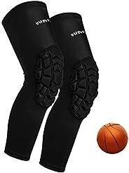 Basketball Knee Pads:ShinyPro 3D Honeycomb Shock Absorption EVA Pads,for Basketball Softball Baseball Football