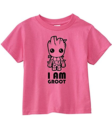 Guardians of The Galaxy Toddler I am Groot T-Shirt (2T, Raspberry)