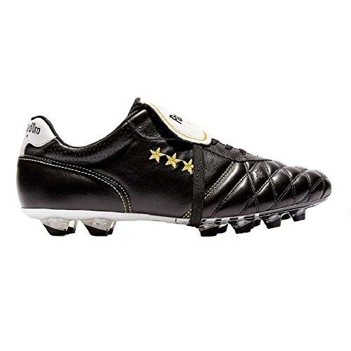 Pantofola d'Oro Emidio Vitello L/L, Scarpa da Calcio (PC2805-02C) (42, Nero)