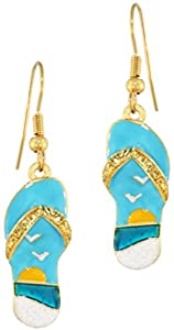 Lunch at The Ritz 2GO USA Flip Flop Earrings - Beach, Shoes by Lunch at The Ritz