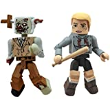 Diamond Select Toys Walking Dead Minimates Series 2: Amy and Stabbed Zombie, 2-Pack