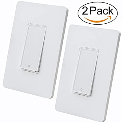 Smart Switch by MartinJerry | Compatible with Alexa, Smart Home Devices Works with Google Home, No Hub required, Easy installation and App control as Smart Switch On/Off/Timing (2 Pack)