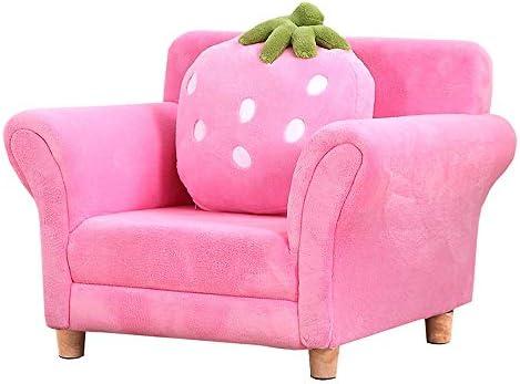 怠zyなソファ リビングルームの家具ソファ家具現代キッズアームチェアソファ布張り 弾力性 (Color : Pink, Size : 48x55x67cm)