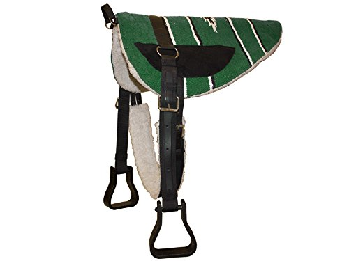- Derby Originals Tahoe Tack Navajo Western Horse Bareback Pad with Reinforced Stirrups and Girth - Multiple Colors