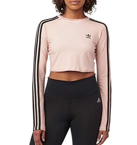Adidas Women Originals Long Sleeve Crop Top (L, dust Pearl)