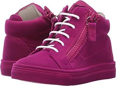 Giuseppe Zanotti Kids Baby Girl's Flock Sneaker (Toddler) Fuchsia 20 M EU M
