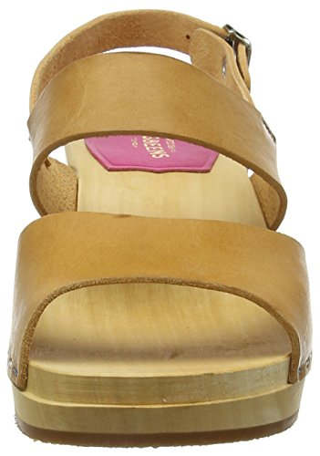 Swedish Hasbeens Women Helena Clogs Brown (Nature) Pa4umGHCU