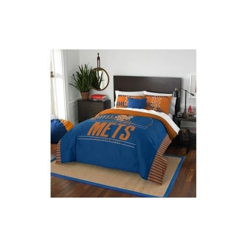 The Northwest Company MLB New York Mets Grandslam Full/Queen Comforter and 2 Sham Set New York Mets Sham