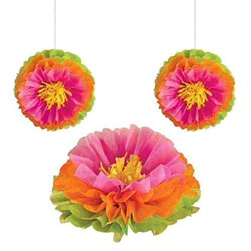 (Amscan Hibiscus Fluffy Flower Party Decorations, 16