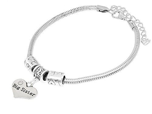 "Luvalti ""Big Sister"" Charm Bracelets 
