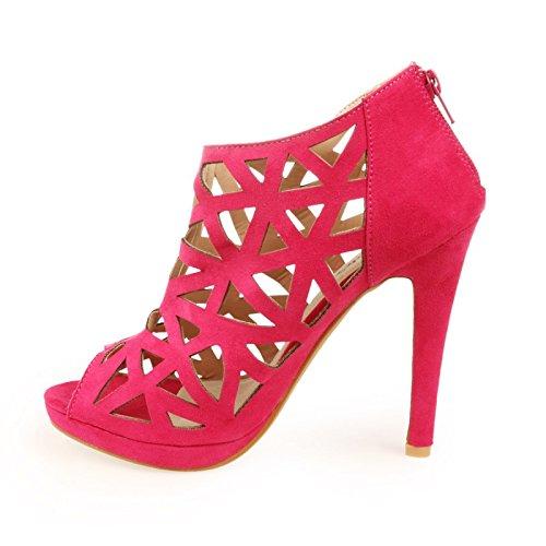 La Modeuse - Sandalias de vestir para mujer Rosa - Fuchsia