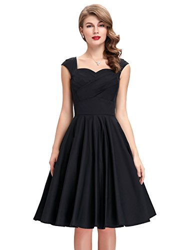 Buy black 1950s prom dress - 4