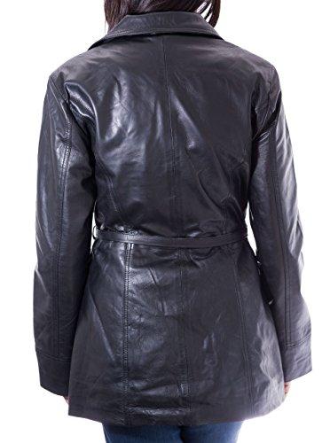 Femme Ceinture Cuir Mouton Longue Vžlo En Main ˆ Veste Avec Noir Žlžgante Pour De 7pYxw6v