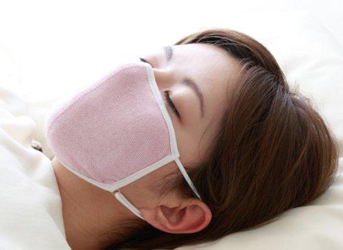 大判潤いシルクのおやすみマスクピンク