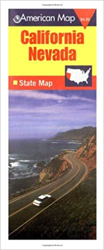 Highway 41 California Map.California Nevada State Map Tv 9780841690707 Amazon Com Books