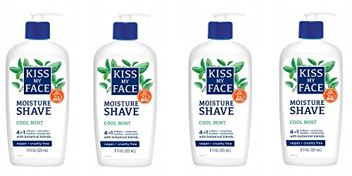 Kiss My Face Moisture Shave Shaving Cream, Cool Mint Shaving Soap, 11 oz (pack of (Mint Shaving Cream)