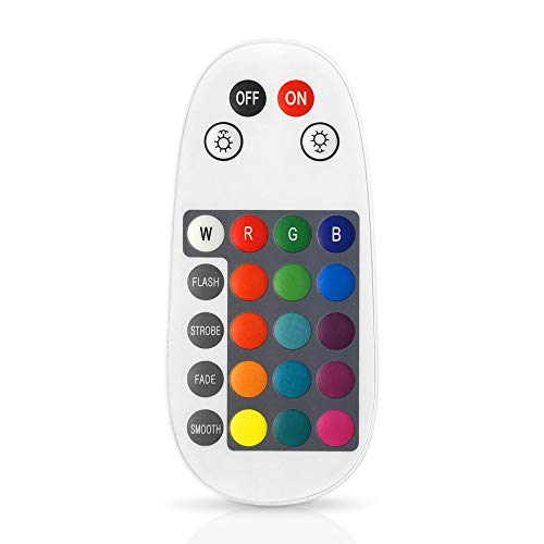 INDARUN Bluetooth Mesh 24 Keys Smart Remote Controller, Multifunctional RGB Smart Controller, Compatible with All of Bluetooth Mesh Products Included Downlights Bulbs Strip Lights Deck Lights