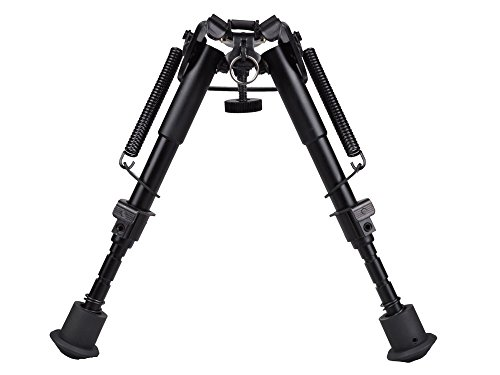 (TMS 6 Inch To 9 Inch Adjustable Spring Return Sniper Hunting Rifle Bipod Sling Swivel)