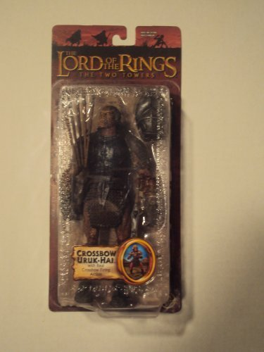 Toy Biz LOTR-Trilogy-Two Towers-Series 1- Crossbow Uruk-HAI (Orcs In The Lord Of The Rings)