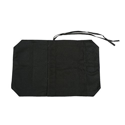 A Chef's Knife Roll Bag - Portable Travel Chef Knife Case Carrier Storage Bag with 4 Slots Best Gift For Pro Chef or Culinary Enthusiasts Men Women HGJ03-P Black by Hersent (Image #3)