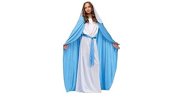Disfraz de Virgen María para niña de Deluxe: Amazon.es: Ropa y ...
