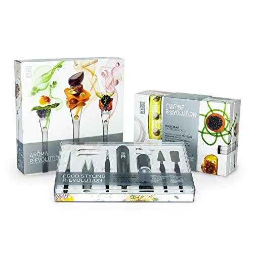 Molecule-R - Triple Skill Molecular Gastronomy Set - Molecular Recipes, Food Styling & Volatile Flavoring (Best Molecular Gastronomy Kit)