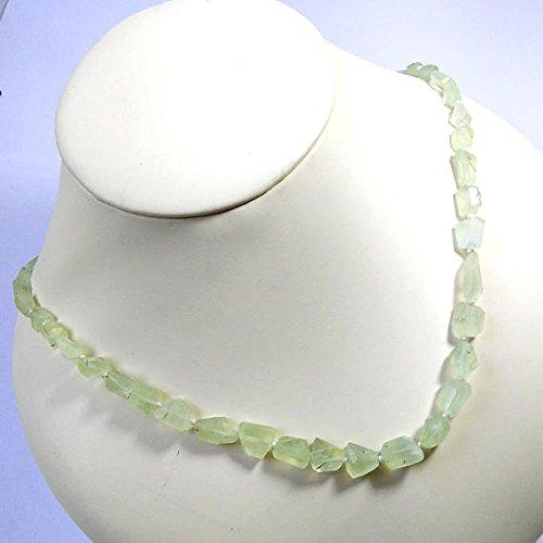 Prehnite Nugget - Prehnite Necklace One Full 18