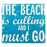Blue The Beach Is Calling Wall Plaque Home Media Room Theater Room Decoration