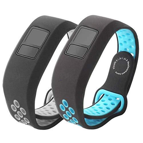 Replacement Bands Compatible for Garmin Vivofit 3/Vivofit JR/Vivofit JR. 2-Budesi Breathable Adjustable Wristband Straps Band for Vivofit 3/Vivofit JR/JR. 2 Bracelet Avaiable for Men Women Kids