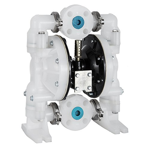 Aro Air Pumps - Happybuy Air-Operated Double Diaphragm Pump 72GPM Polypropylene Max 120PSI for Chemical Industrial Use