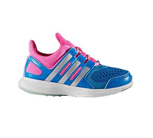 Adidas Hyperfast 2.0 Kids Running Shoe 7 Shock Blue-Matte Silver ...