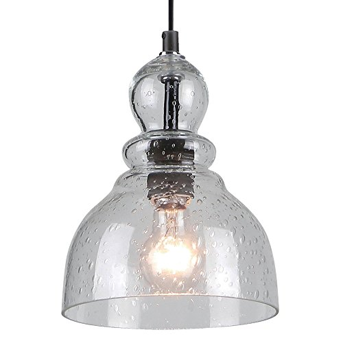Westinghouse 6100800 One-Light Indoor Mini Pendant, Oil Rubbed Bronze Finish with Clear Seeded Glass by Westinghouse Lighting (Image #2)
