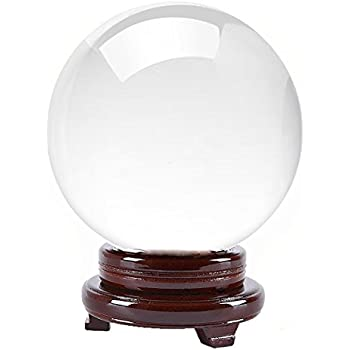 Amlong Crystal Crystal Ball 130mm (5 inch) Including Wooden Stand and Gift Package