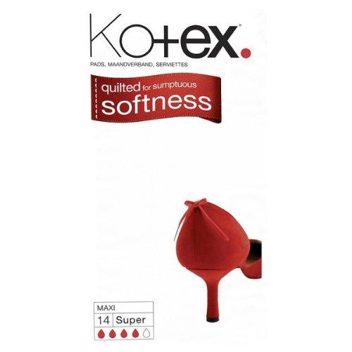 Kotex Maxi Super Sanitary Towels 4x14 Pack