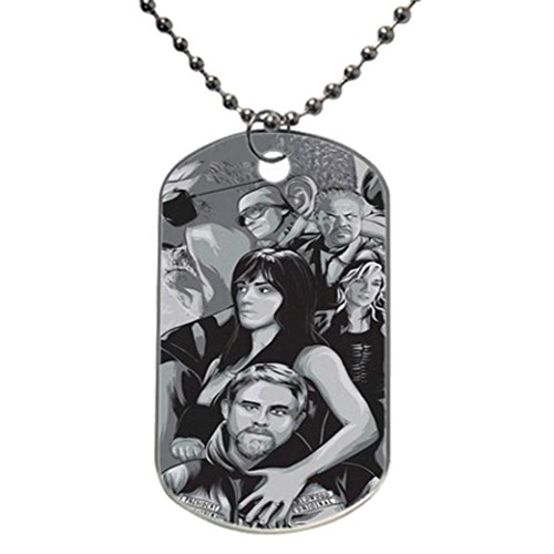 Sons Of Anarchy Sons Custom Photo Oval Dog Tag Dimensions  1 2  X 2  X 0 1  Inches With 30  Aluminum Bead Chain