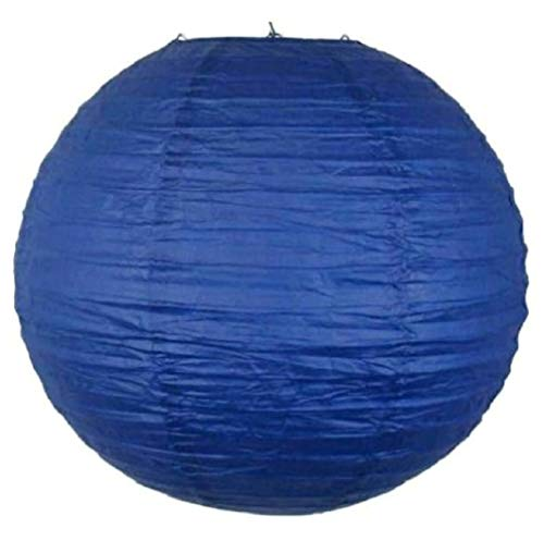 Pack of 6 Round Paper Lanterns Lamp Wedding Birthday Party Decoration (Royal Blue, 10