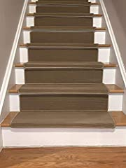 Stair Treads Bullnose Collection indoor stair treads offer polypropylene - olefin low pile machine made construction with adhesive strips at the backing which works on most hardwood, marble etc stairs . Competitive pricing meets with great qu...